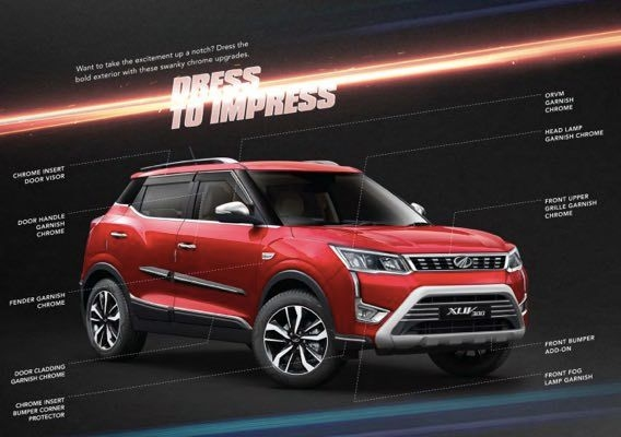 Mahindra XUV300 Accessories Revealed
