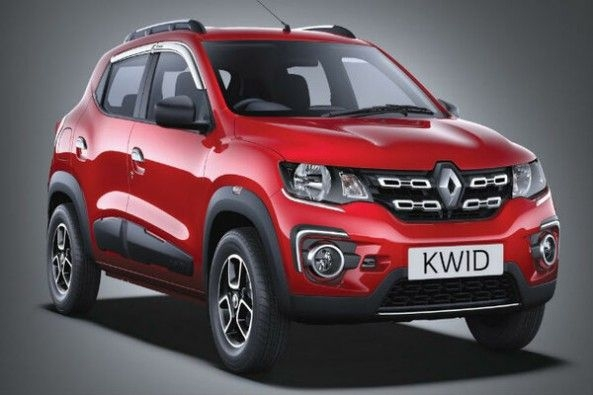 Red Color Renault Kwid Front Profile
