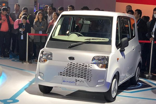 Mahindra Atom Production Version Unveiled at the Auto Expo 2020