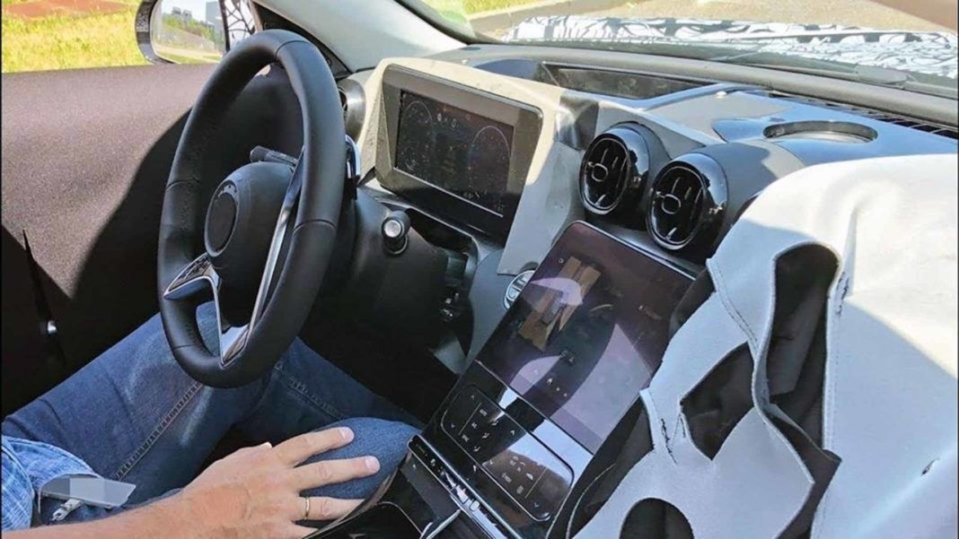 2021 Mercedes Benz C-Class Interior Spied