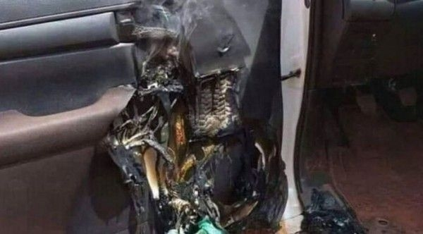 Alcohol Based Hand Sanitizer Explodes in Car in USA