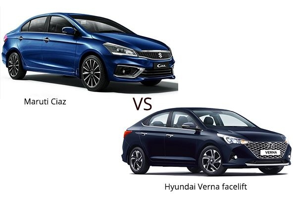 BS6 Hyundai Verna Facelift vs Maruti Ciaz: Detailed Comparison