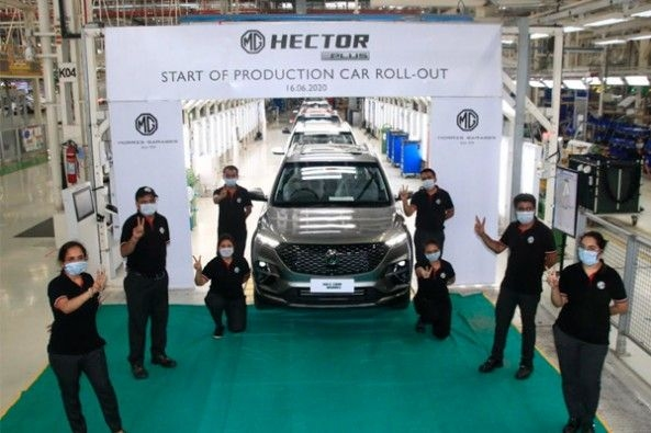 MG HECTOR PLUS Production Begins