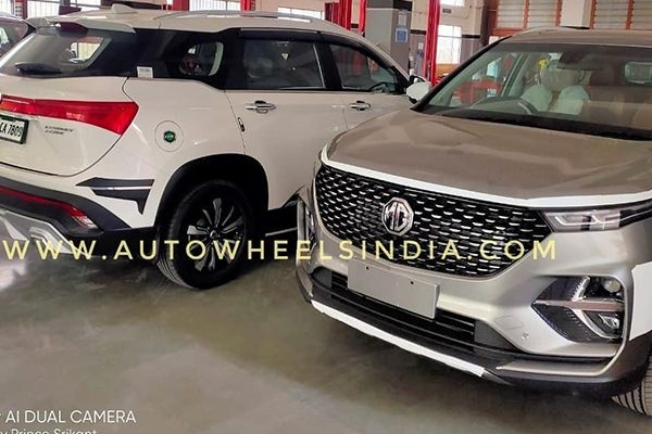 MG Hector Plus Spied in New Colour Launching Next Month