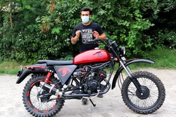Hero Passion XPro Modified into Adventure Bike for Rs 80000