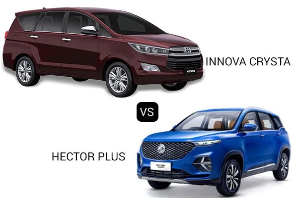 MG Hector Plus vs Toyota Innova Crysta - Price, Variants, Engine Specification and Safety Features