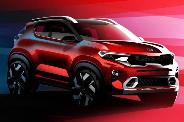 Kia Sonet Interior & Exterior Sketches Revealed