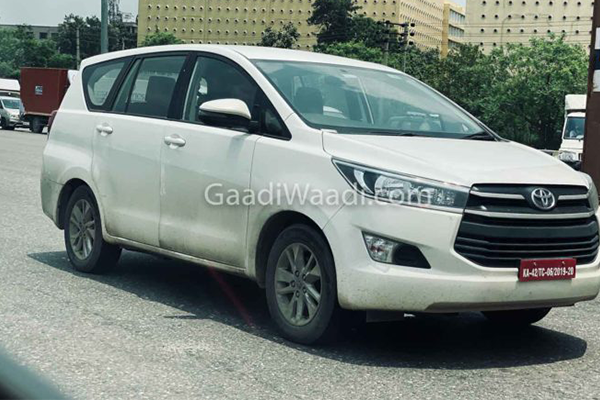 Toyota Innova Crysta CNG Spied Testing Once Again