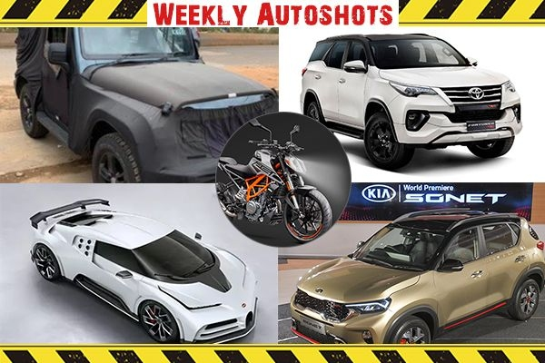 Weekly Autoshot - Kia Sonet Global Unveil, Maruti S-Cross BS6, Mahindra Thar BS6 Launch