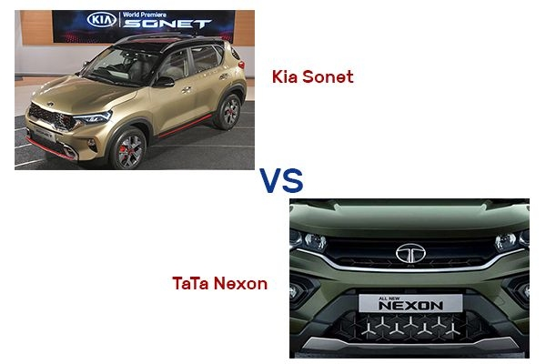 Kia Sonet vs Tata Nexon -  Features, Specifications and Price