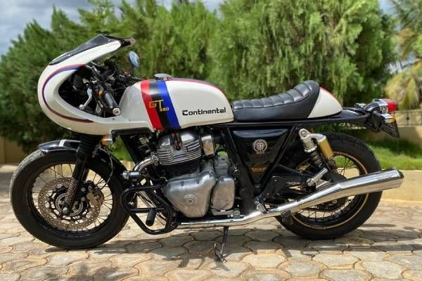 Royal Enfield Continental GT 650 modified into a Cafe Racer