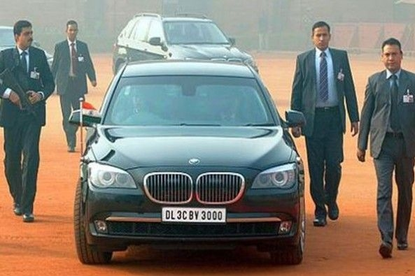 PM Modi Bullet Proof car