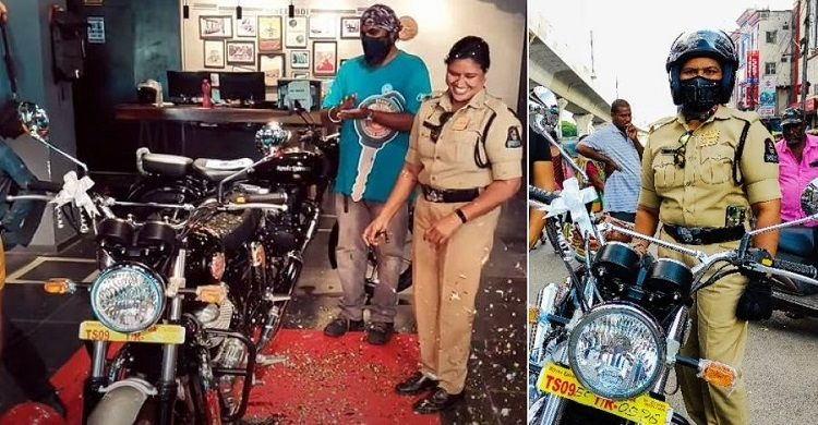 Royal Enfield Interceptor 650 First Personal Bike of a Lady Police Officer