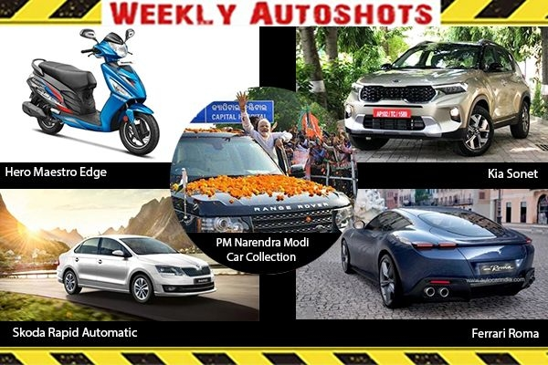 Weekly Auto shots - Kia Sonet, Skoda Rapid Automatic, Ferrari Roma, BS6 Hero Maestro Edge Launched