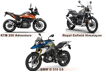 KTM 250 Adventure vs BS6 BMW G 310 GS vs Royal Enfield Himalayan: Detailed Comparison