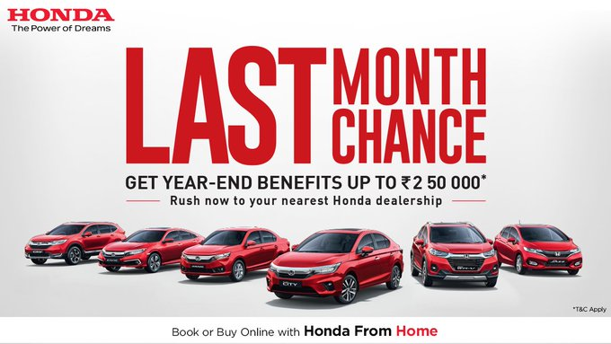 Honda Cars India is Offering Year-End Bumper Discounts