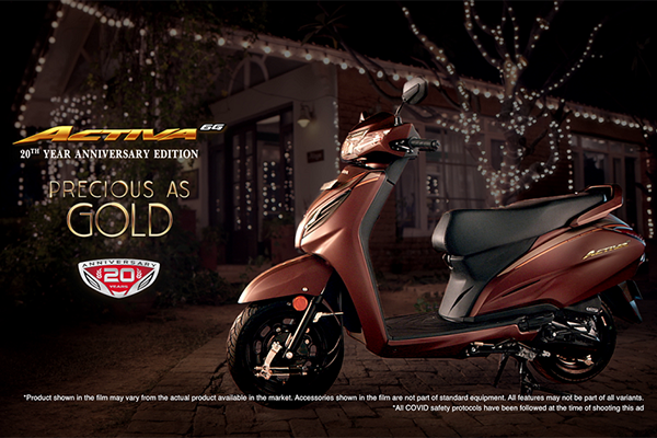 Honda Activa Completes 20 Years in India