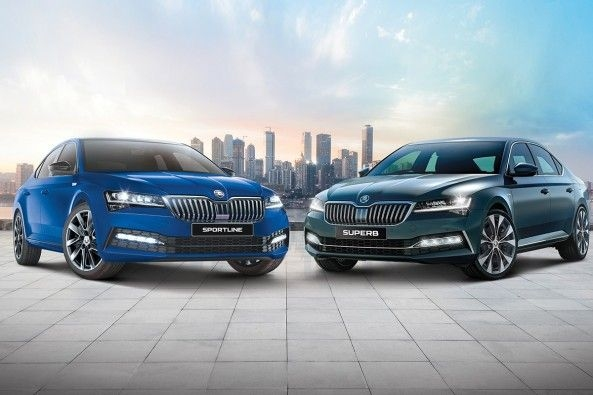 2021 Skoda Superb Sportline and L&K trim