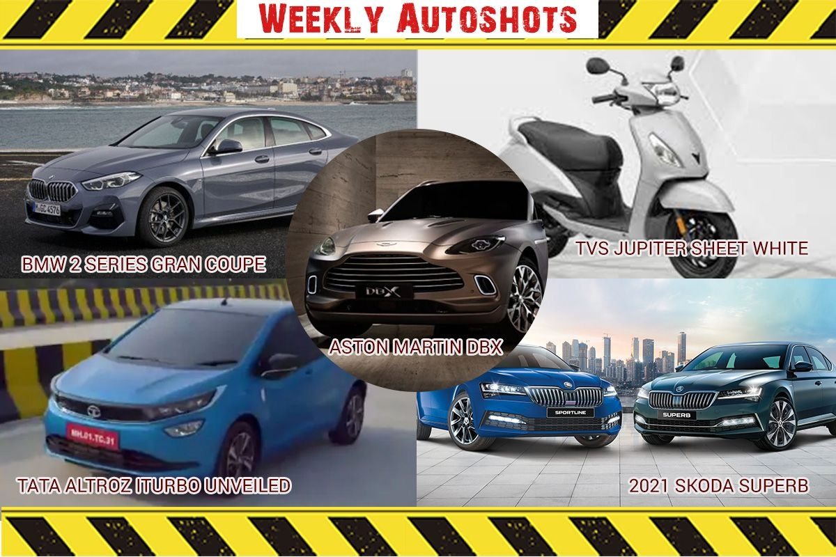 Weekly Auto shots -  Aston Martin DBX, TVS Jupiter Sheet White Metal, 2021 Honda Africa Twin Adventure Sports, Tata Altroz iTurbo