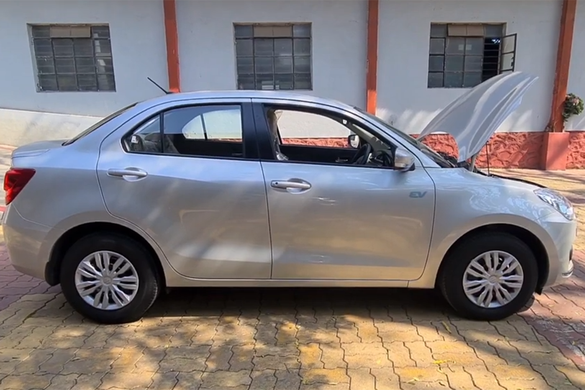Maruti Suzuki Dzire Converted into an Electric Car: Range 250 Kms