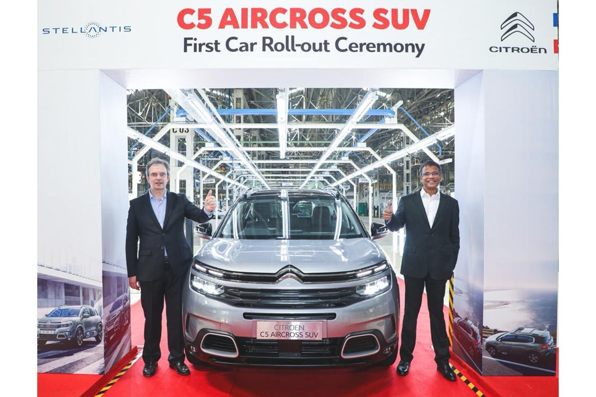 Citroen C5 Aircross First Unit Rolled Out in India