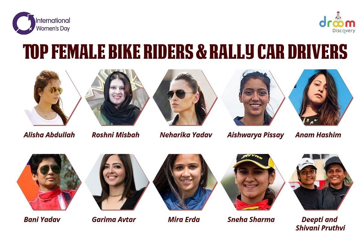 International Women's Day 2021: Famous Bike Riders and Car Drivers in India