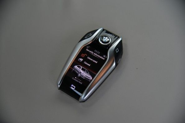 Key fob doubles up as remote controller for the car's park-pilot feature. You can park a 5-series without getting into it.