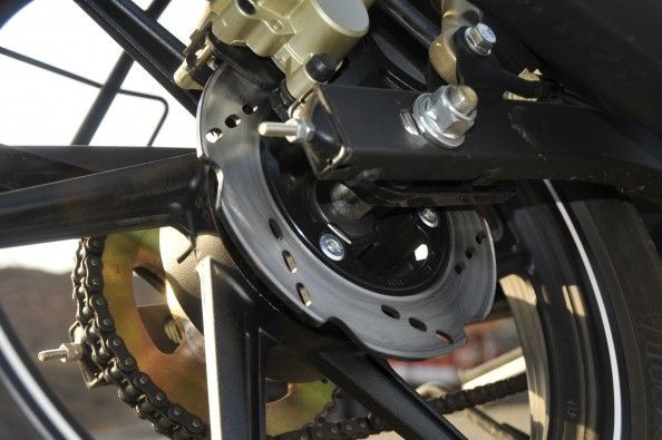 Disc brake at the rear, and there's also the option of ABS.
