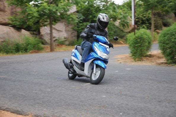 The Ray tackles corners as well as any scooter with 10-inch wheels.