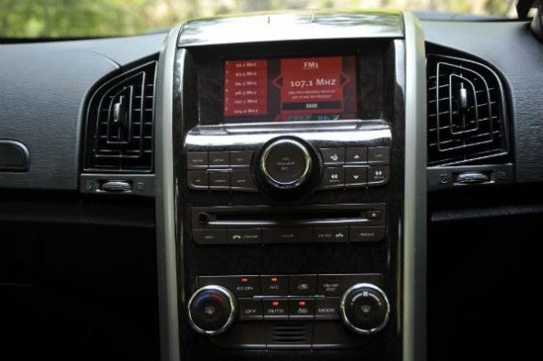 Toushscreen infotainment system comes with satelite navigation and a DVD player.