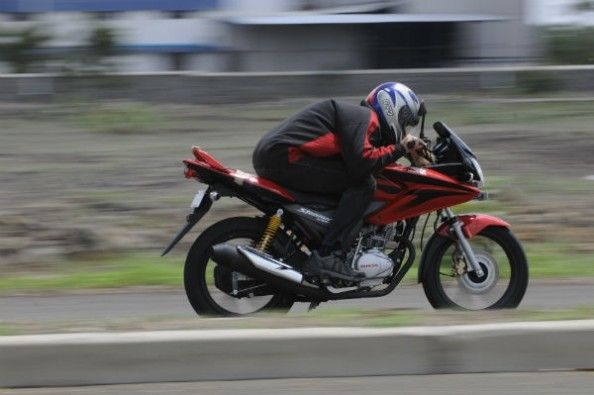 The bike feels quite steady and stays planted to the straight line.