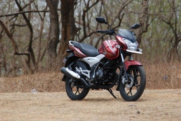 Big headlamps and 10-spoke alloys are highlights on the new bike; monoshock is a first-in-class feature