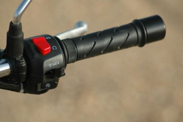 switchgear and grips feel nice to the touch.