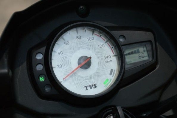 Instrument cluster is simple and quite functional