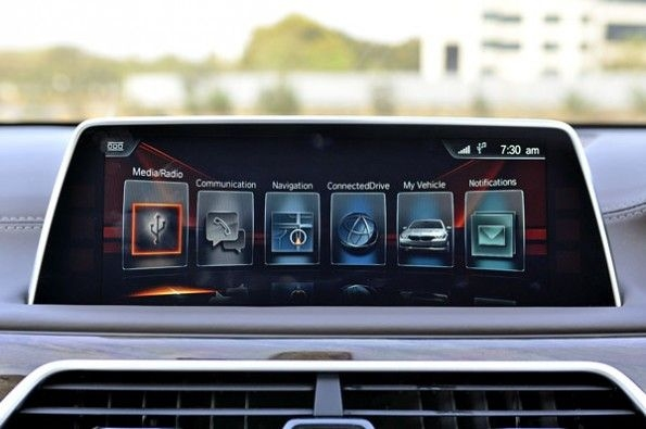 Infotainment screen is touch-operated
