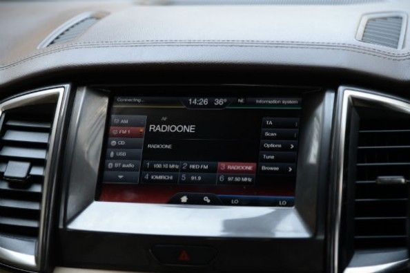 Ford Endeavour touchscreen infotainment system
