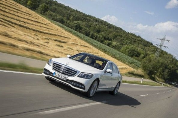 As a Level 2 Autonomous Vehicle, the S-class, can temporarily drive itself.