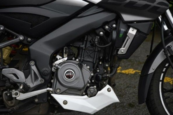 The NS200's 23.5hp, 199.5cc single-cylinder motor is the most powerful here.