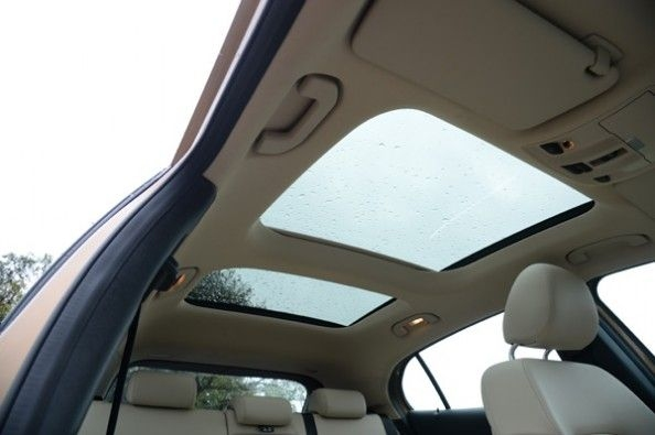 Large panoramic roof.