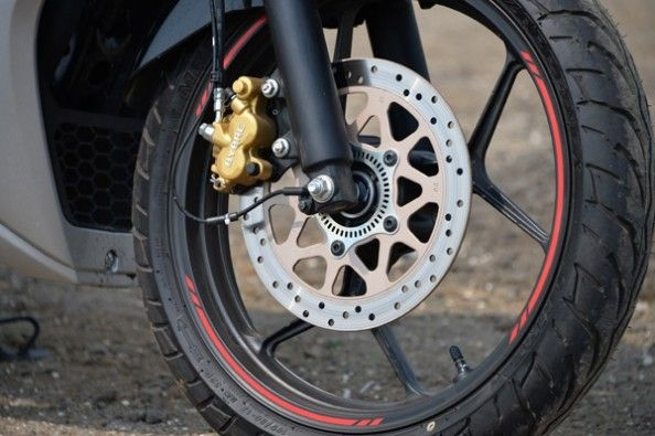 ABS-equipped caliper.