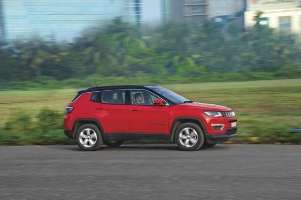 Jeep Compass in action.