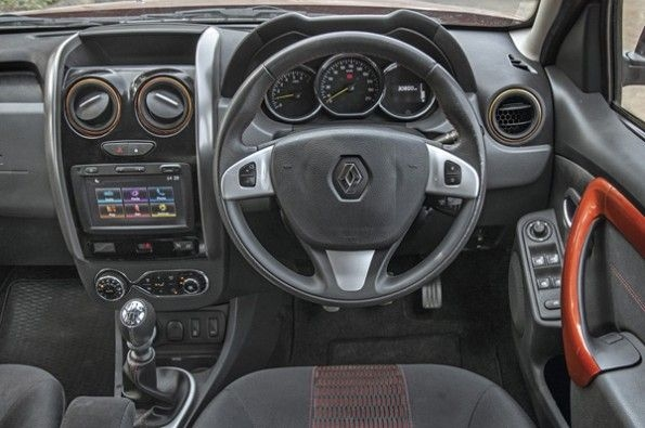 The Duster's interior looks the most dated.