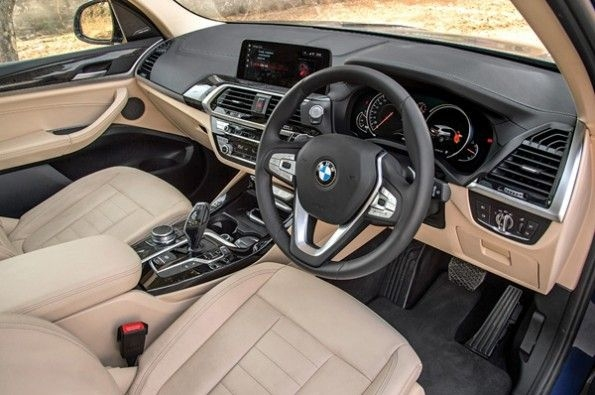Beige and black interior looks neat.