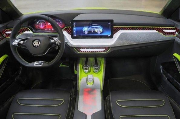 Dramatic-looking interior in the Vision X.