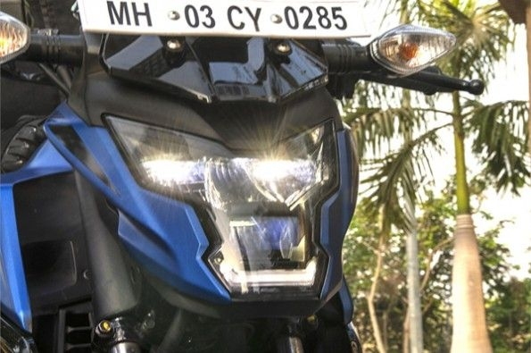 The unique headlight offers LED lighting.
