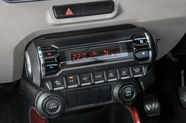 The modern climate controls in the Ignis.