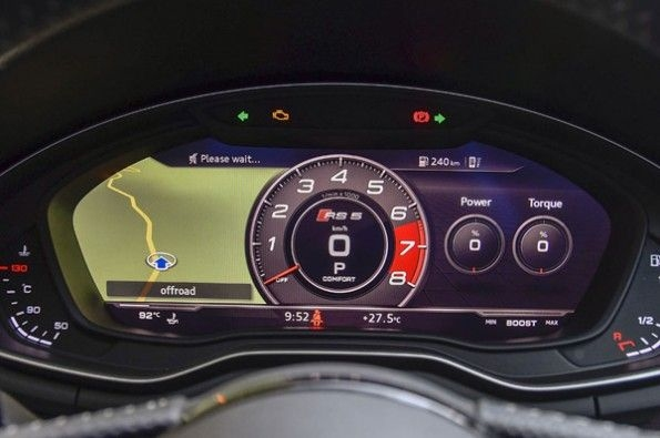 The sportier instrumentation similar to the S5.