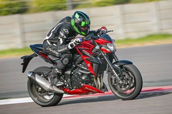 The GSX-S750 is a friendly middle-weight bike.