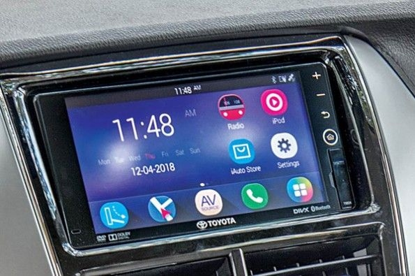 The infotainment system looks aftermarket but works well.