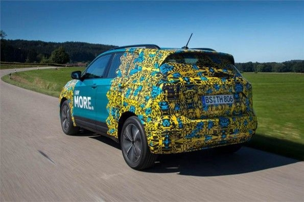 The rear is heavily camouflaged.